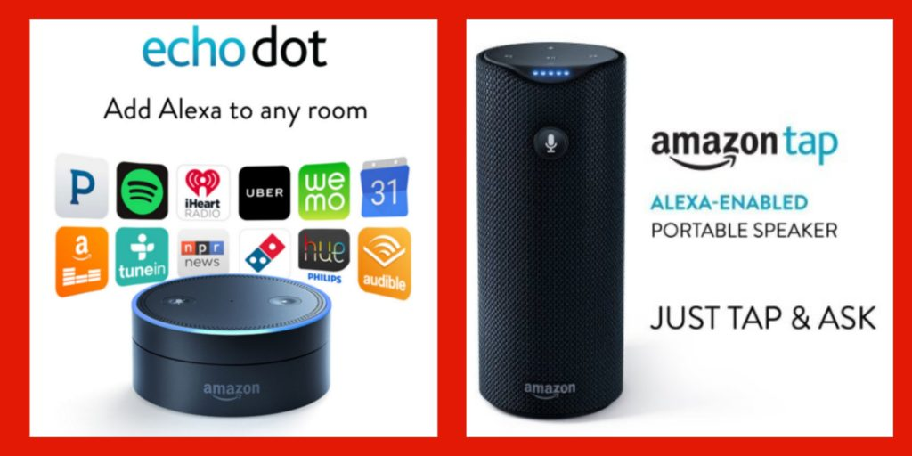 Amazon Echo Dot Amazon Tap